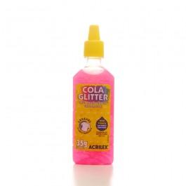 COLA C/GLITTER 23G PINK-ACRILEX