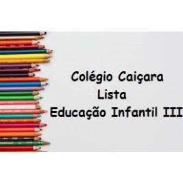 EDUCAÇÃO INFANTIL III
